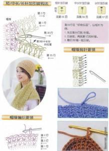 Шапка и шарф из шерсти фото (8)