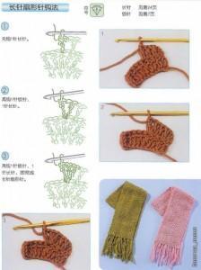Шапка и шарф из шерсти фото (3)