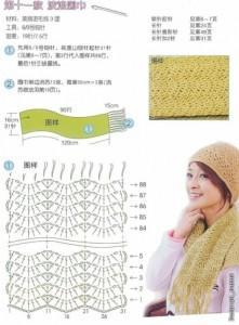 Шапка и шарф из шерсти фото (2)