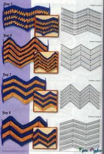 Узоры зиг-заг схемы и вото (5)