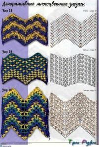 Узоры зиг-заг схемы и вото (2)