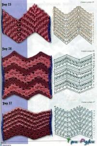Узоры зиг-заг схемы и вото (1)