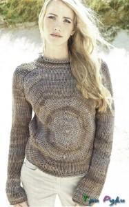 Пуловер в стиле батик (2)
