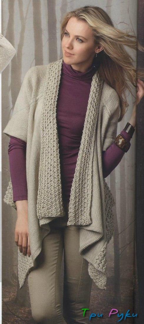 Оригинальный жакет фото вязания спицами (1)