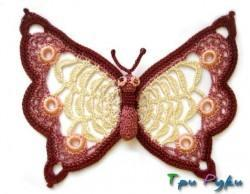 Бабочка вязанная крючком (1)