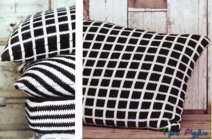 Черно-белые чехлы на подушки (1)
