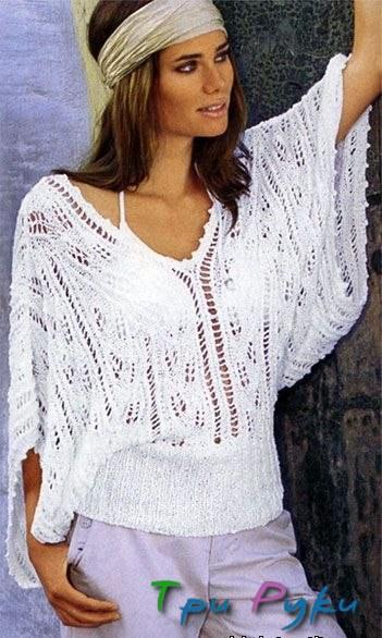 Пуловер спицы фото (1)