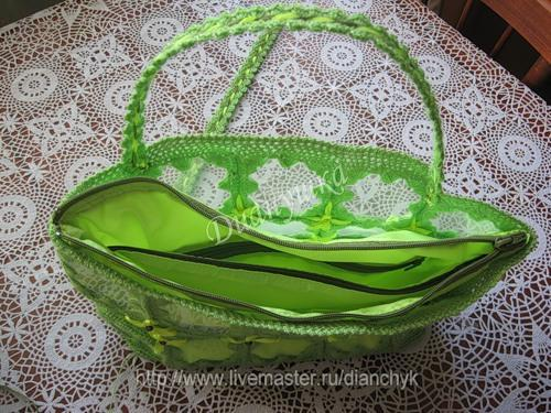 Соединение подкладов в сумочке