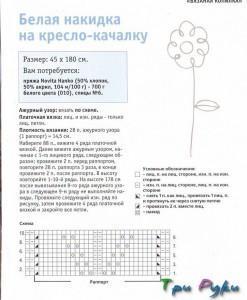 Белая накидка спицами (1)