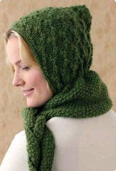 Шарф капюшон (шарф худи). (2)