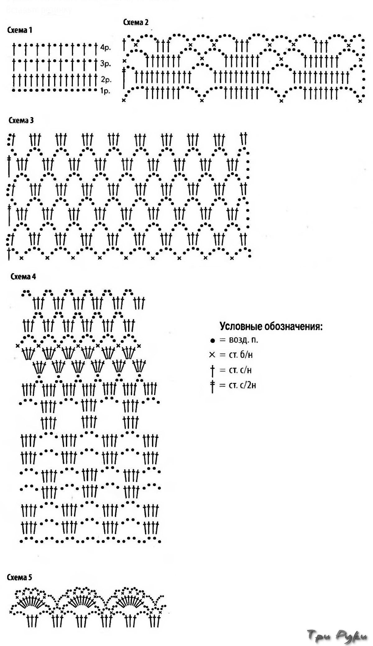 Схемы Юбок Ажурных