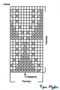 Серый свитер схема и фото (3)