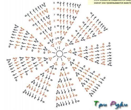 Девятиугольники крючком (1)