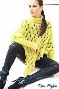 Желтое пончо фото (3)