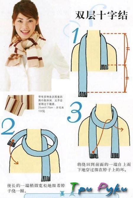 вязаные шарф как завязать (7)