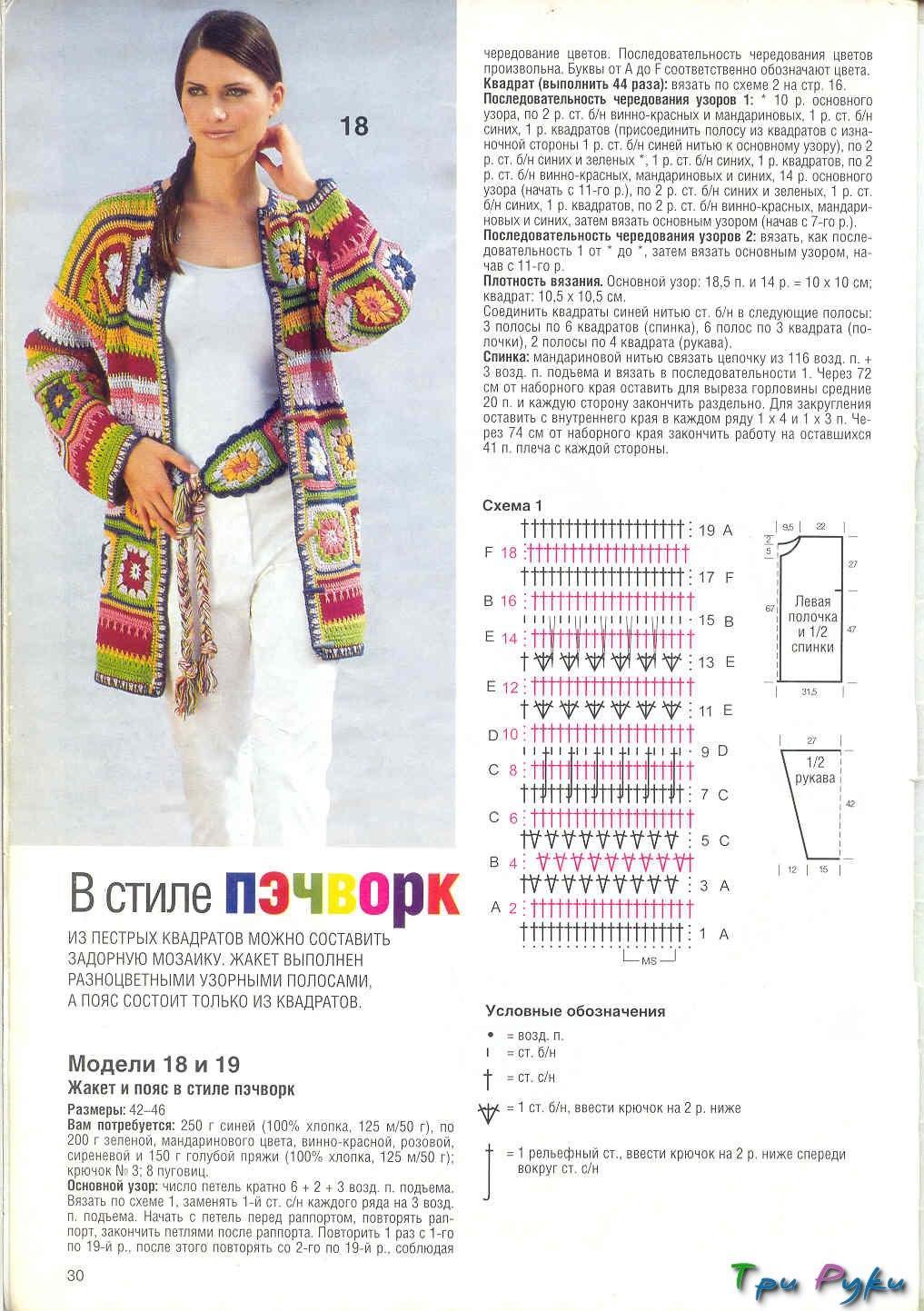 Вязание крючком квадраты для женщин