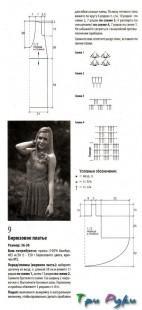 Вязание голубого сарафана (1)