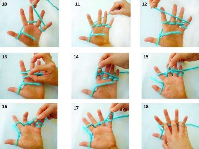 Нитки для вязания на пальцах