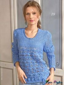 Blue crochet cardigan (2)