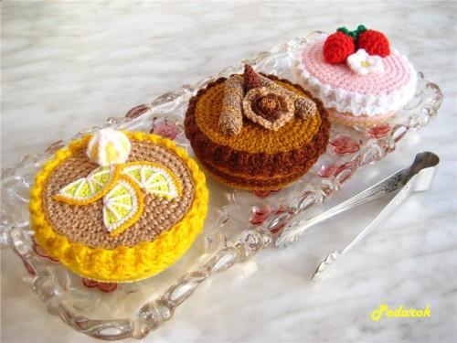 Вязаные пирожное - шкатулка (6)