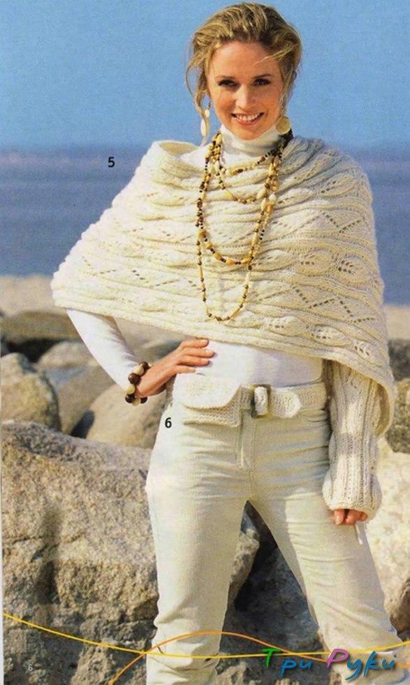 Вязание свитер шарф спицами 99