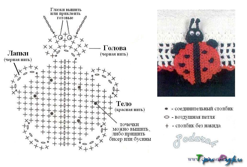 Аппликации крючком схемы на русском