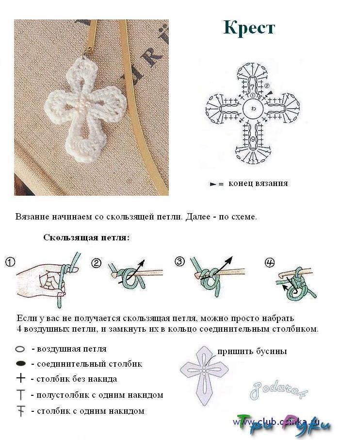 Вязание крест на крест описание