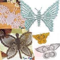 Вязаная бабочка крючком