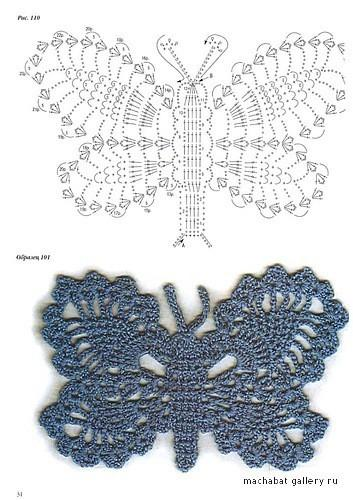 Бабочка крючком (3)