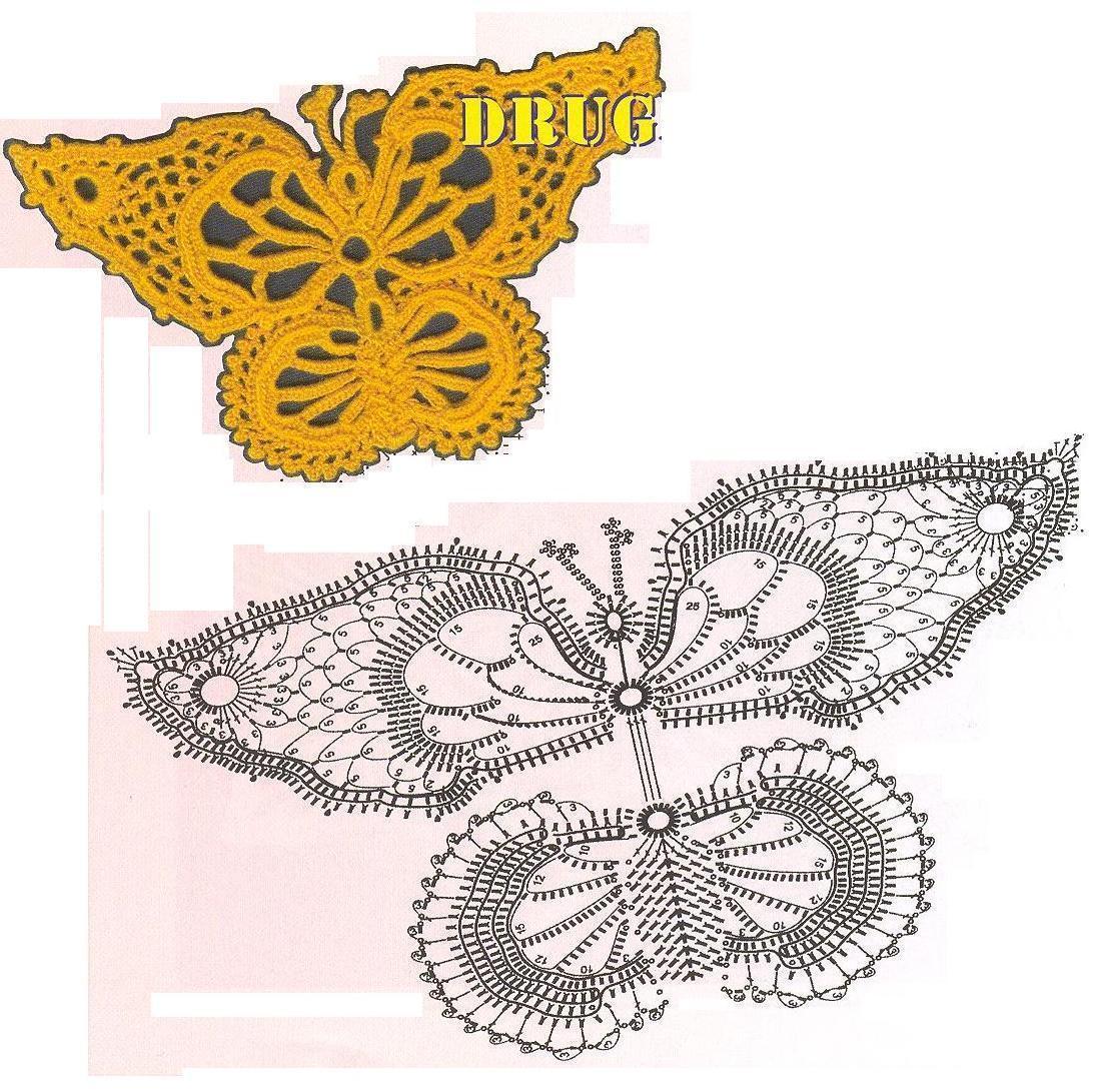 Бабочка крючком (2)