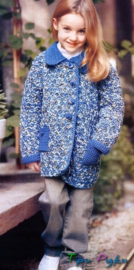 Пальто детское крючком (3)