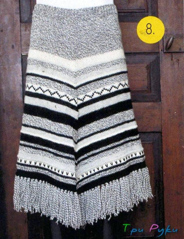 Простая юбка спицами (2)