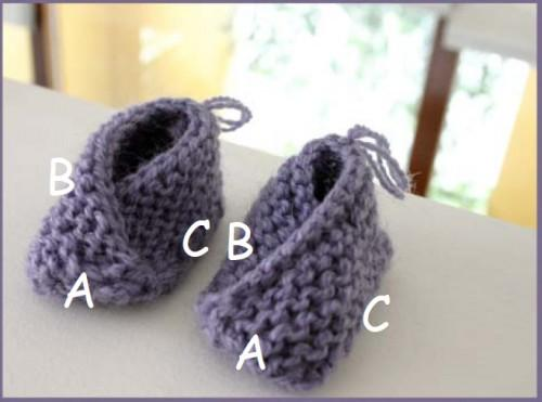 Simple slippers crochet and knitting (4)