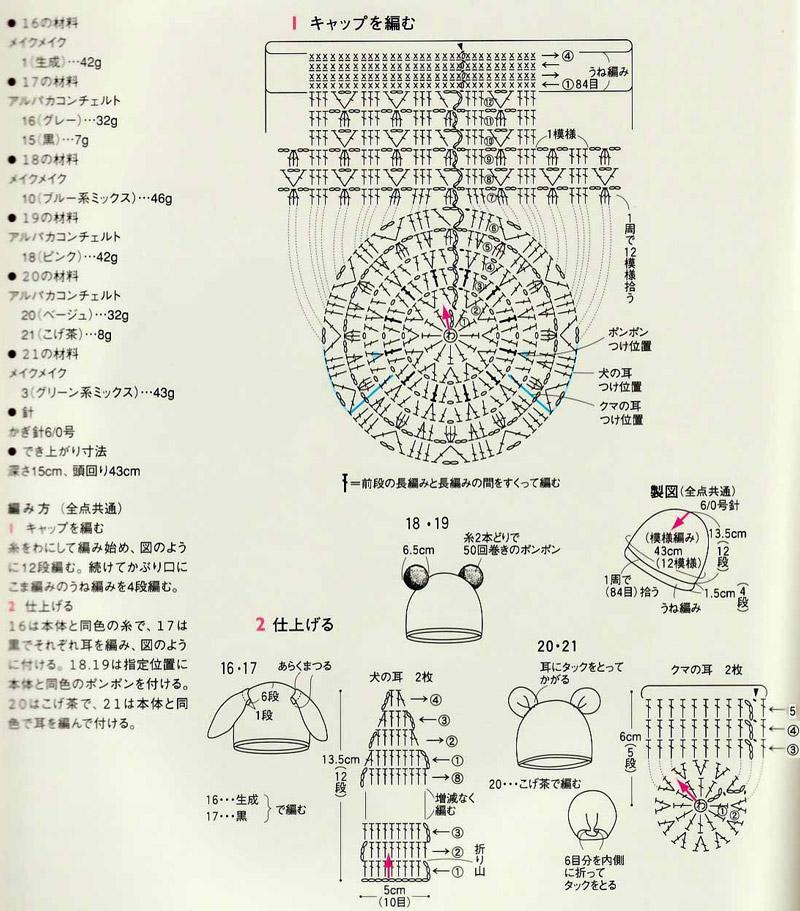 Схема вязаной крючком детских шапочек фото 115