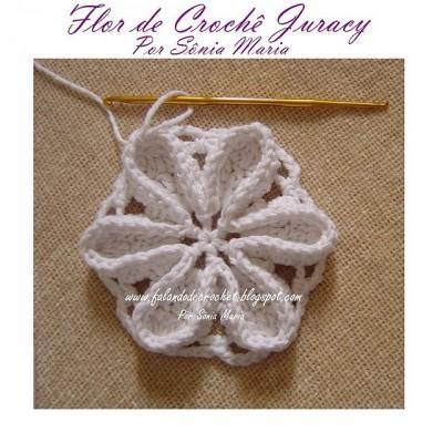 knitted crochet flower (1)