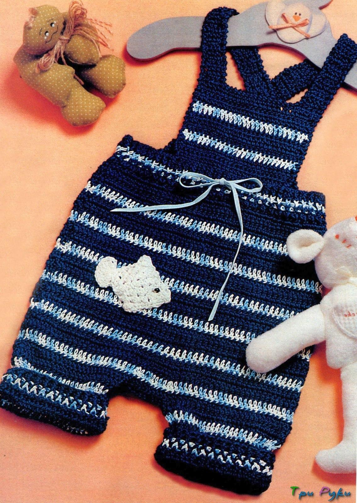 Вязаные штанишки для малышки