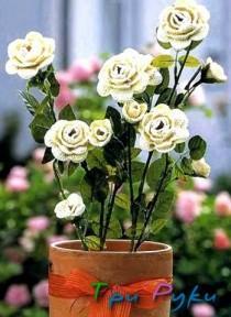 Вяжем розы крючком (1)