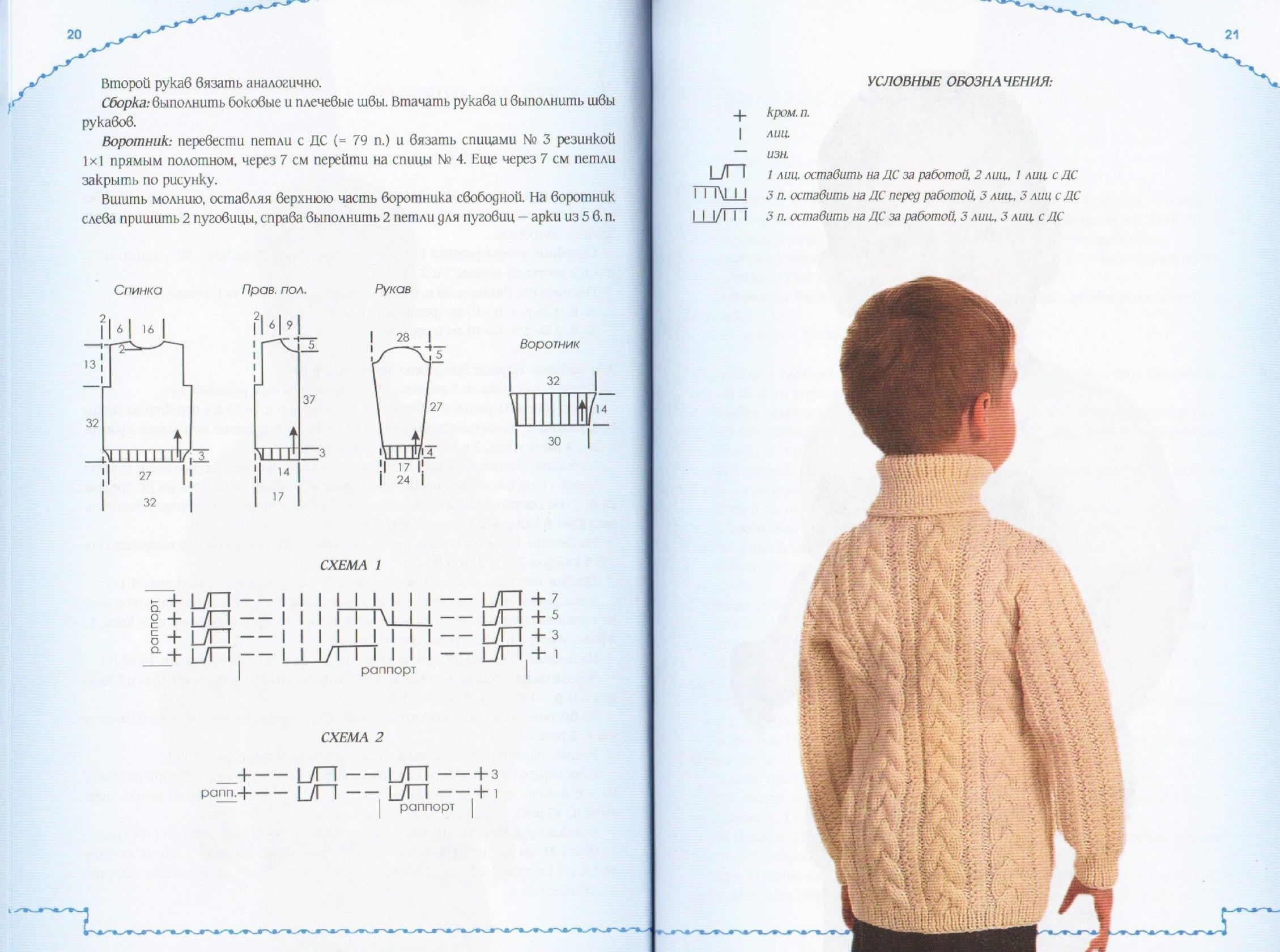 Круговое вязание спицами для мальчиков