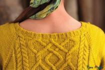 Желтое платье спицами (7)