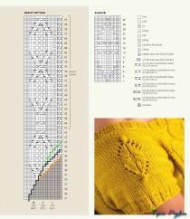 Желтое платье спицами (5)