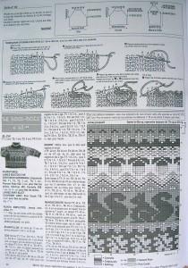 Схема вязания белки на пуловере для мальчика