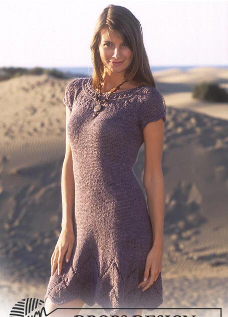 Вязаное спицами платье (4)