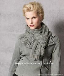 Серый ажурный шарф из Gedifra.