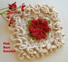 Роза мотив крючком (4)