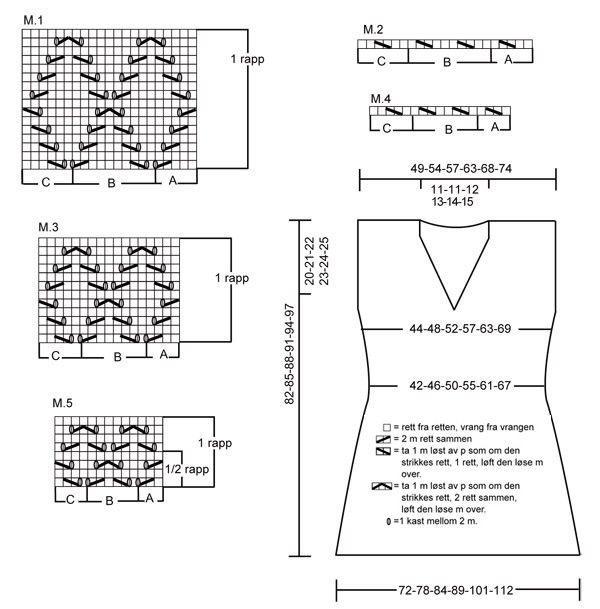 drops схема вязания платья