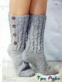 Носки с пуговицами. (2)