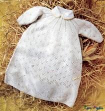 Крестильное платье спицами (1). Крестильное платье спицами.