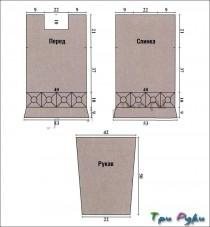 Бежевая ажурная туника из квадратных мотивов (1)