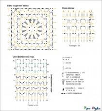 Бежевая ажурная туника из квадратных мотивов (3)