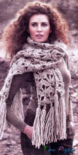 Объемный шарф крючком (2)